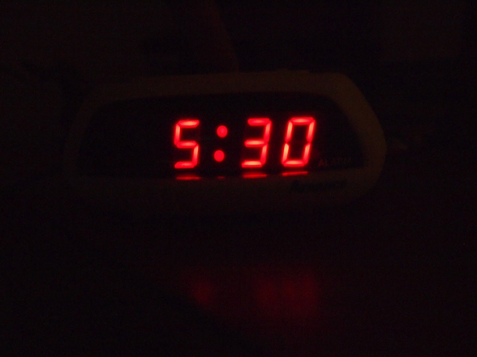 At 620am  my alarm goes off Alarm Clock Going Off At 6 30