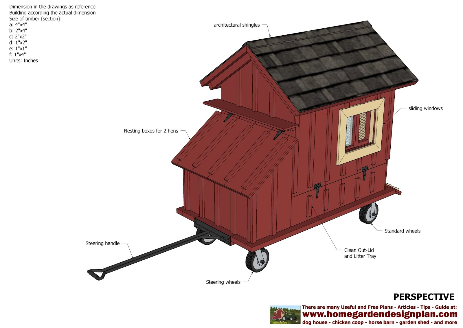 home garden plans t100 chicken coop tractor plans