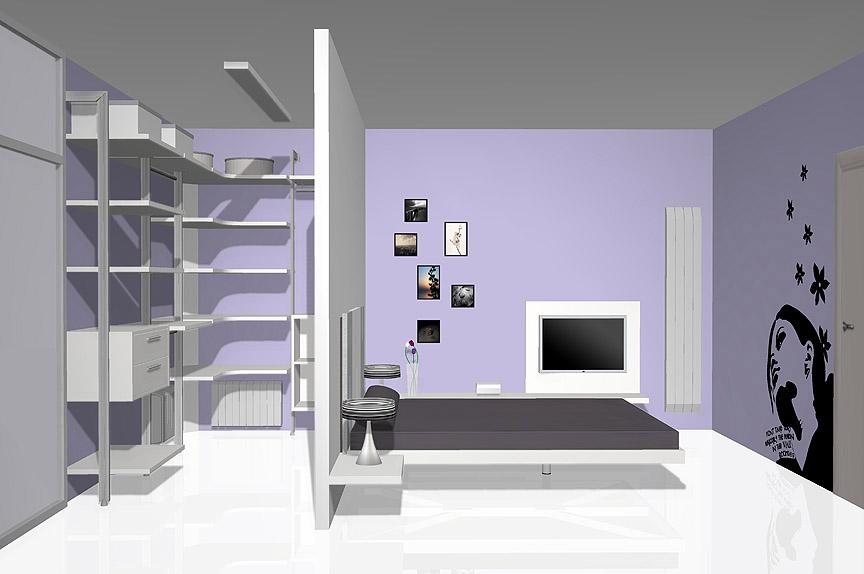 vestidor detrs de la cama - Habitacion Vestidor