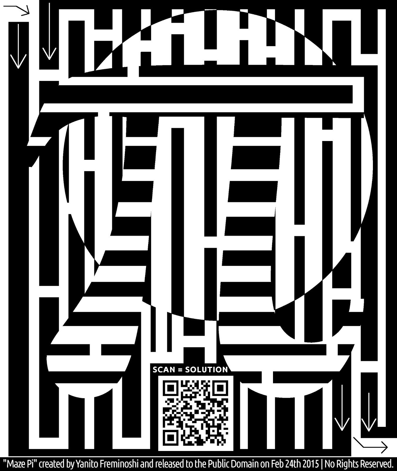 Yanito Freminoshi Maze Like Samurai Maze Of The Pi Symbol