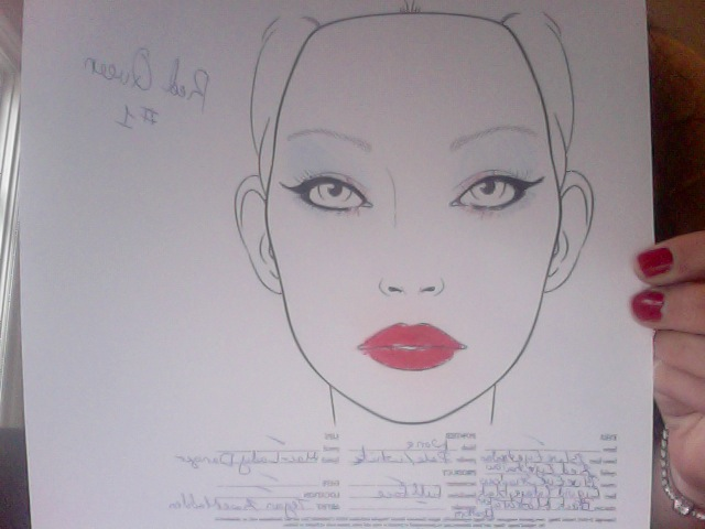 alice in wonderland makeup template for the queen of hearts