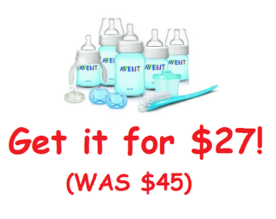 Get the Philips Avent Classic Plus Newborn Starter Set for $27 (LOWEST PRICE EVER!)