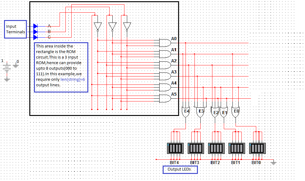 Creating a rom circuit using multisim aout here is a sample runppose we give the input as 100ie index four of the word python o ccuart Image collections
