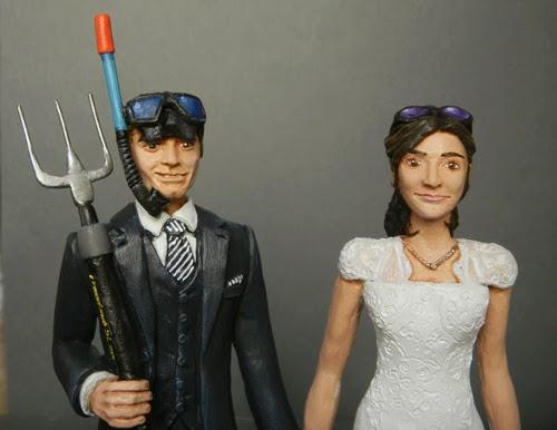 sposini personalizzati torta matrimonio facce personalizzate orme magiche