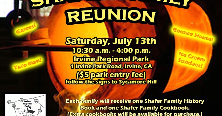 Shafer Family Reunion Flyer and a Link to post your Photos – Family Reunion Flyer