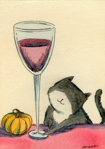lil cat w drinkie poo pumpkin