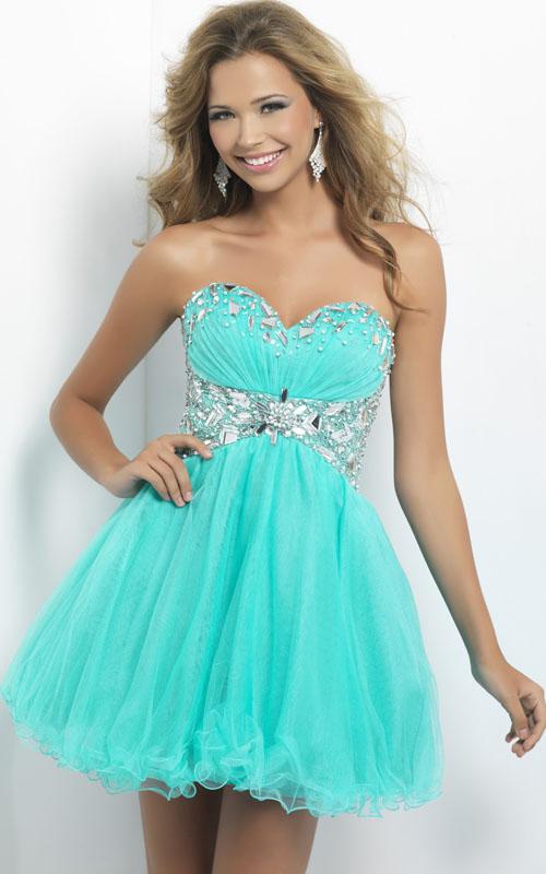 Light Green One Strap Short Prom Dresses
