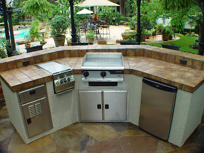 Outdoor Island Kitchen