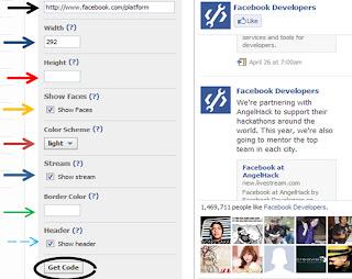 facebook like box  blogger