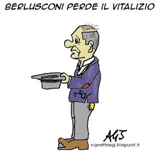 Berlusconi, vitalizi, vitalizio, satira, vignetta