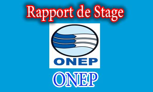 Rapport de stage a l 39 onep partenaire de r ussite for Introduction rapport de stage cuisine
