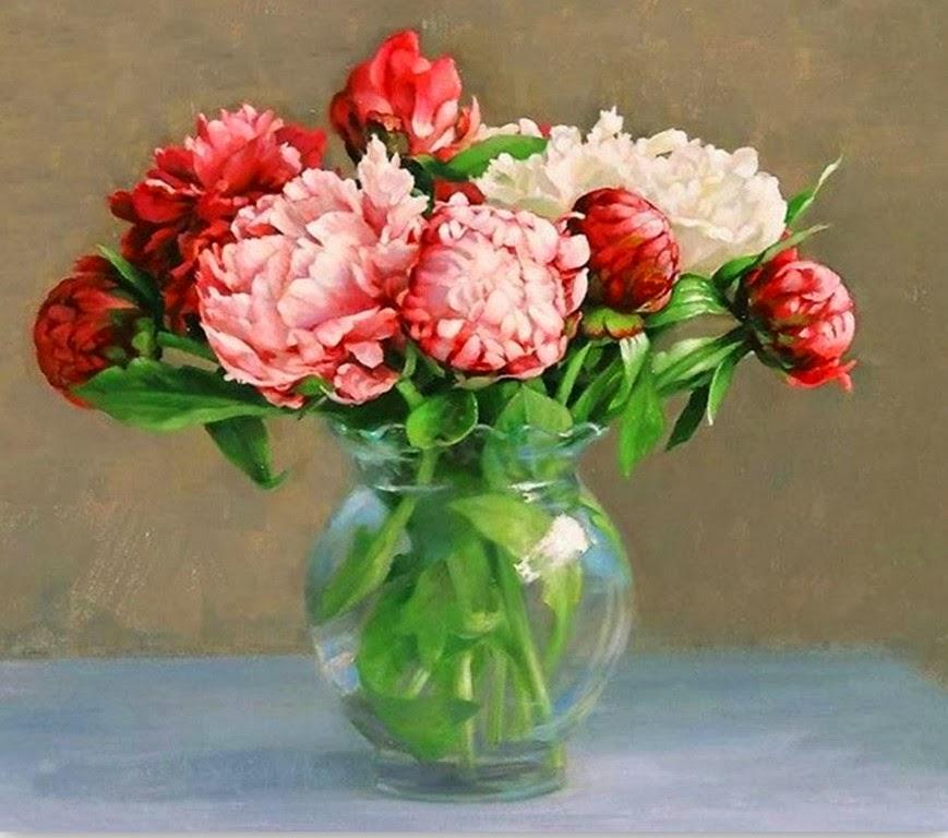 pinturas-realistas-flores-rojas