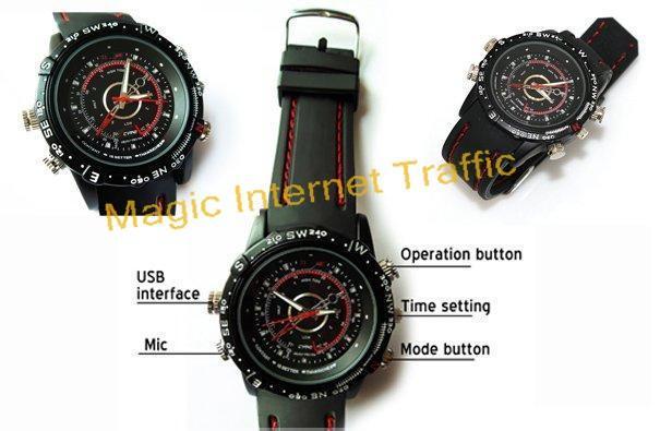 how to use spy wrist watch