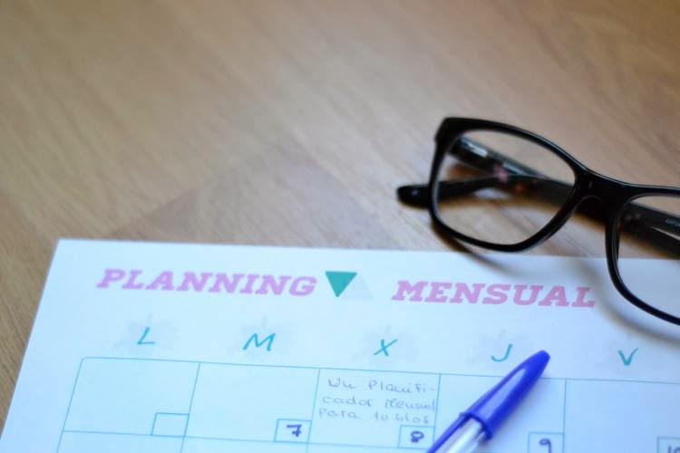Planficador mensual blog imprimible