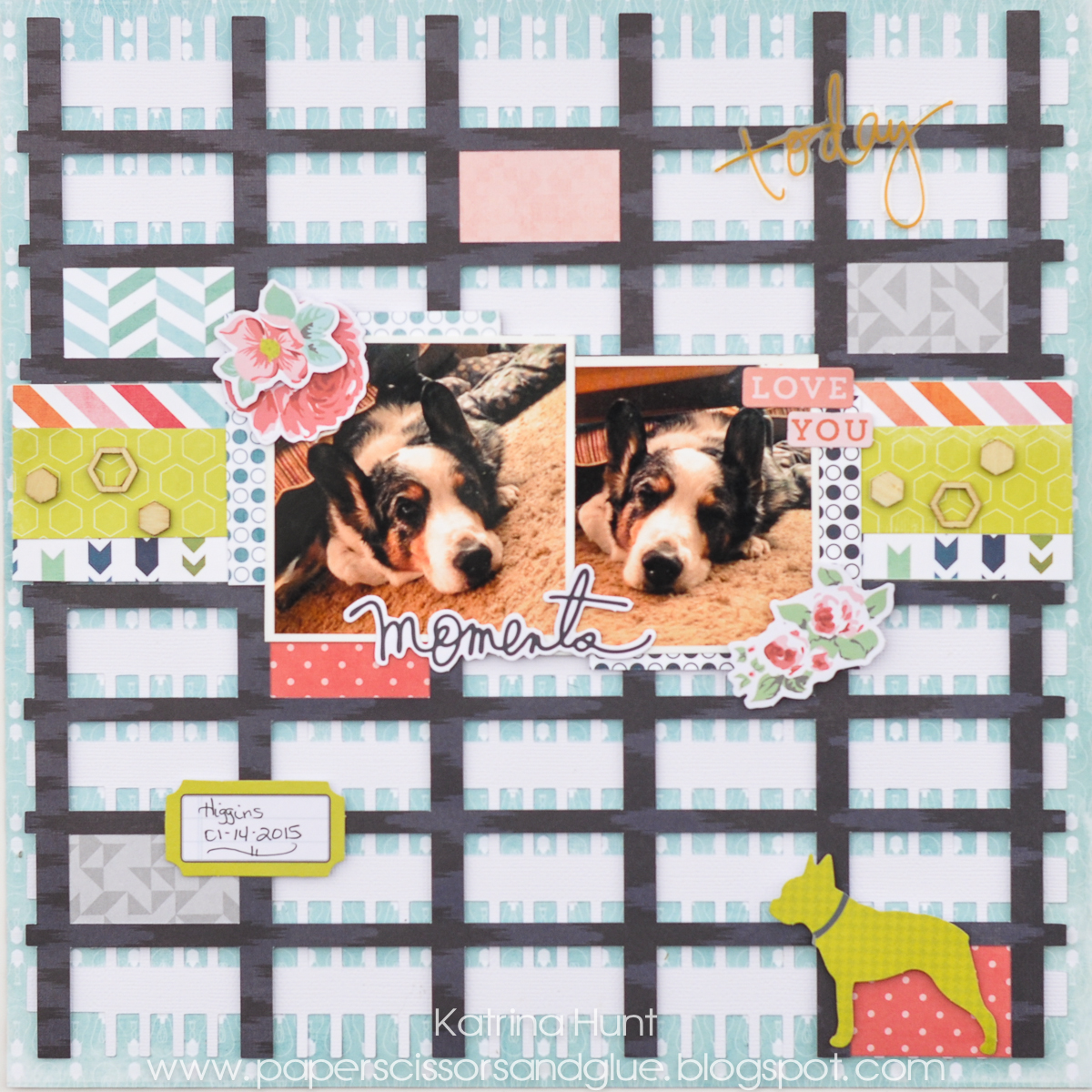 Moments Scrapbook Page by Katrina Hunt featuring 17turtles Digital Cut File Mad For Plaid