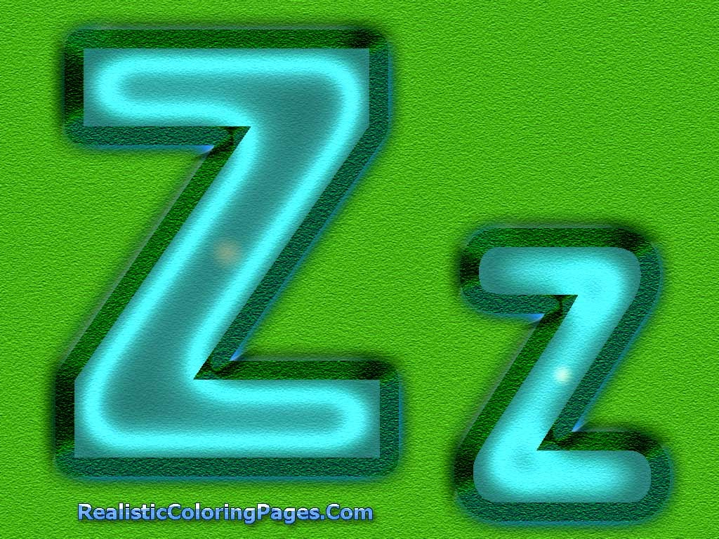 Z Letters Alphabet Coloring Sheet | Realistic Coloring Pages