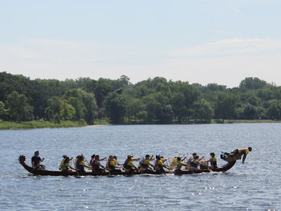 dragon boat on a lake