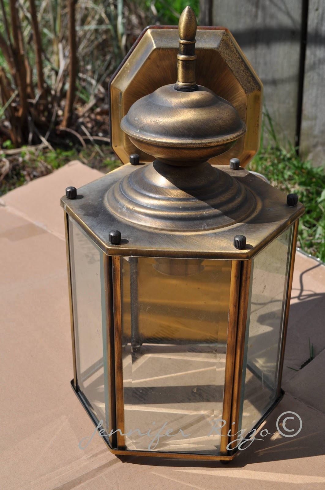 house project revamping old brass light fixtures with spray paint. Black Bedroom Furniture Sets. Home Design Ideas