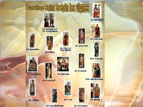 Les saints patrons des églises de la paroisse