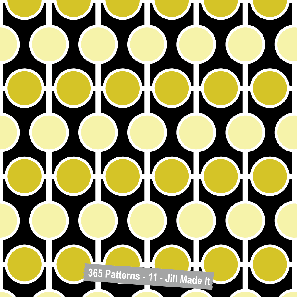 365 Patterns:  Yellow, Black, and White
