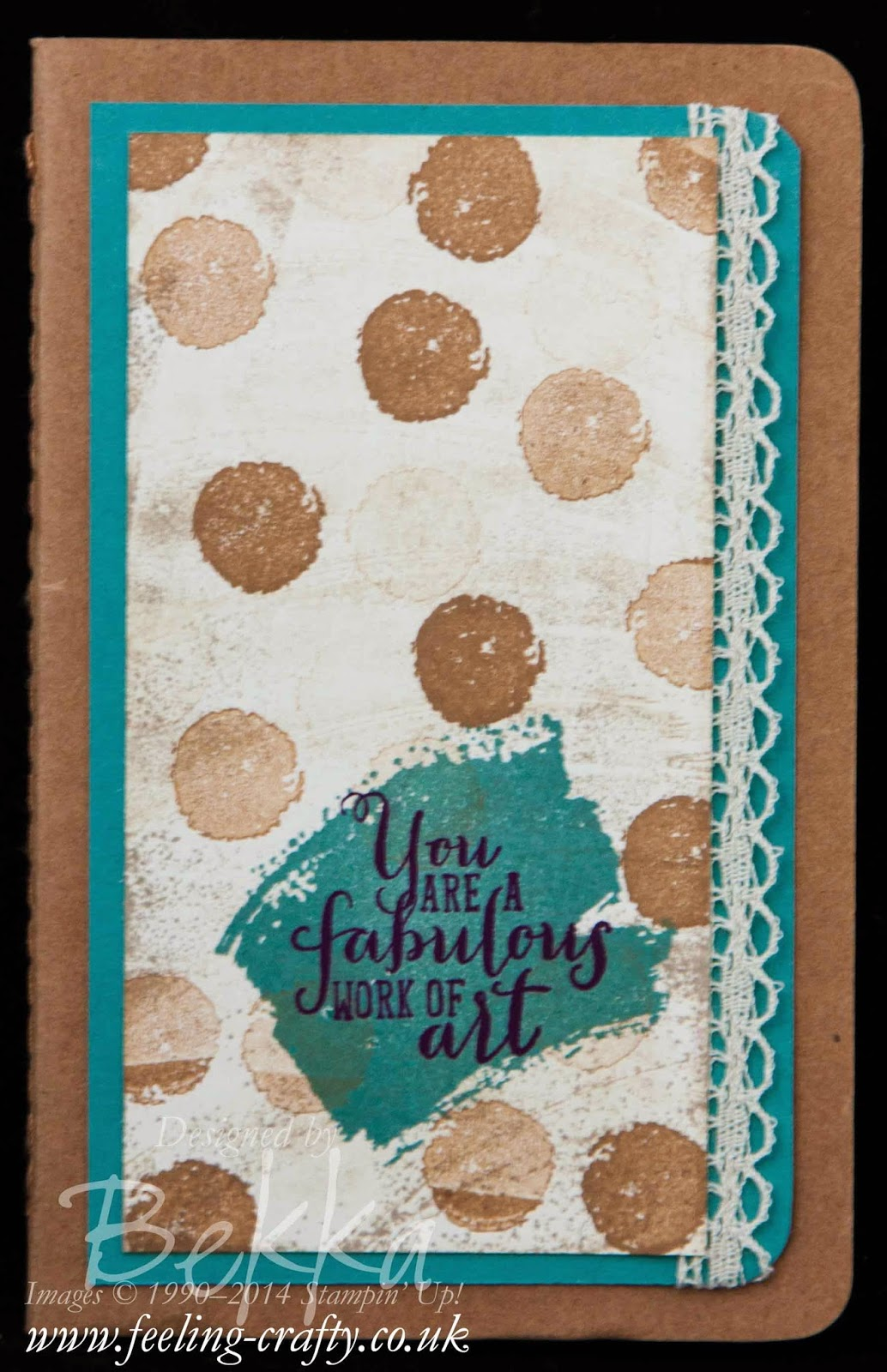 Work of Art Class Notebook by Stampin' Up! UK Independent Demonstrator Bekka Prideaux