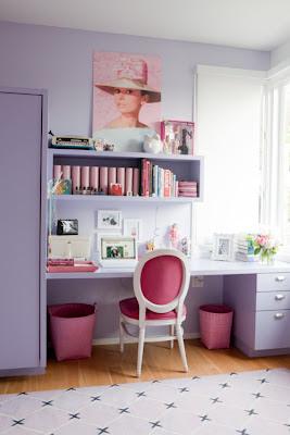 Audrey Hepburn decoração quarto de meninas