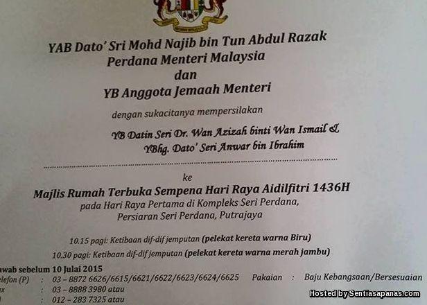 Najib 'Jemput' Anwar Hadiri Majlis Hari Terbuka!
