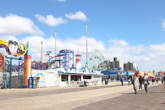 Coney Island Brooklyn New York boardwalk