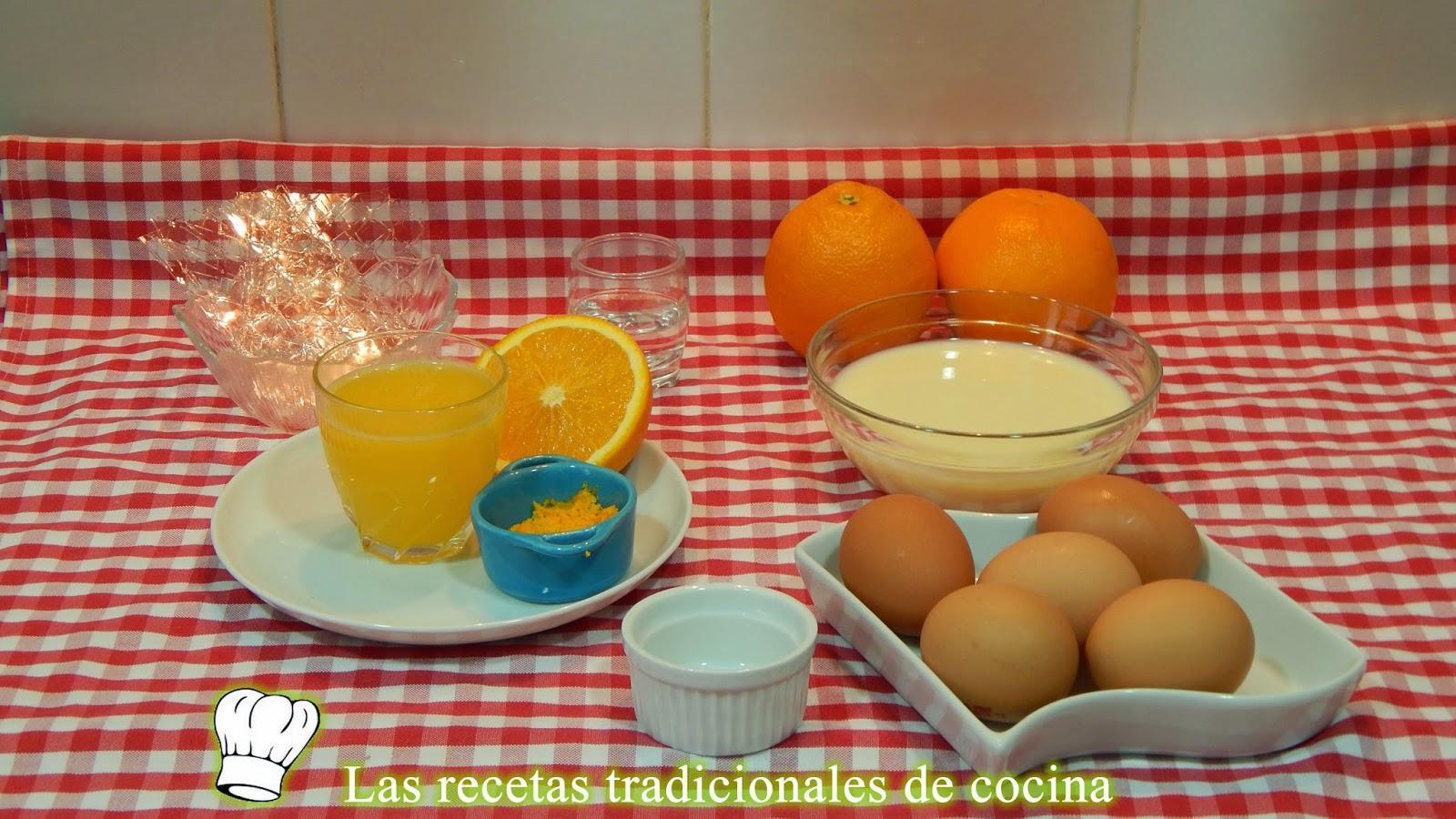 Receta de mouse de naranja