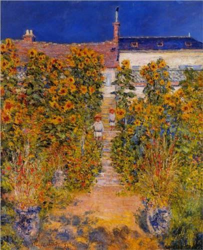 Claude Monet Le jardin de l′artiste a Vetheuil.