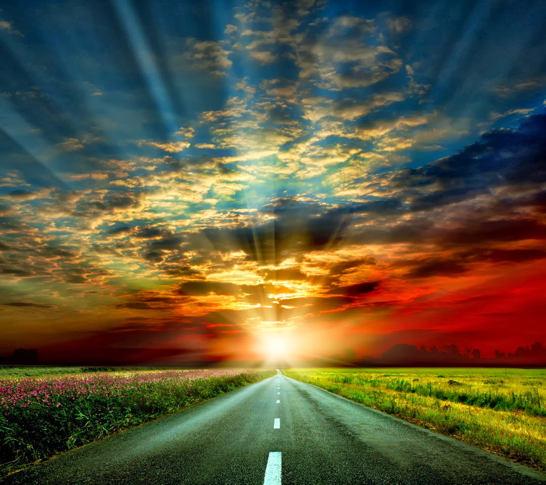 Road Sunset Wallpaper Pin Wallpaper Sunset R...