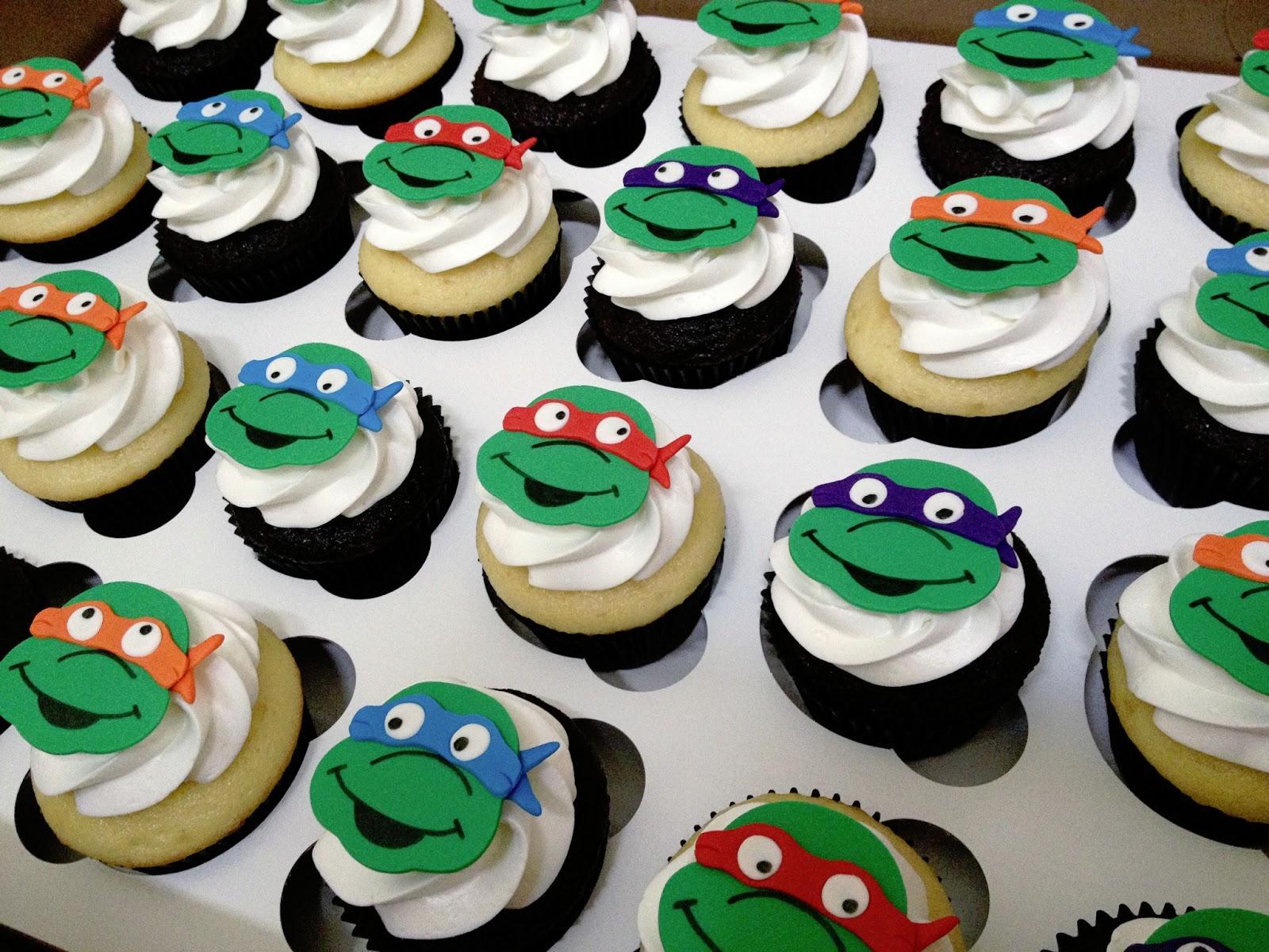 Ninja Turtle Cupcake Cakes