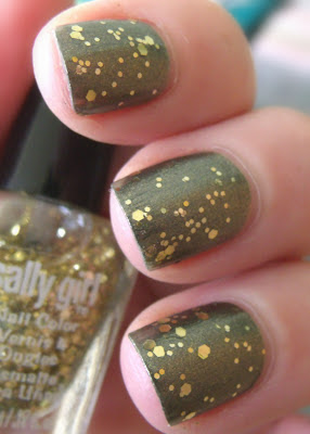 Fresh Paint Olive You & Sally Girl Gold Glitter