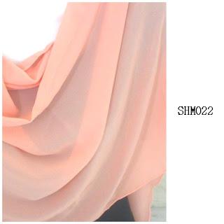 shawl halfmoon plain peach