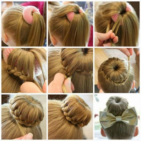 Прически на длинные волосы для девочек пошагово фото
