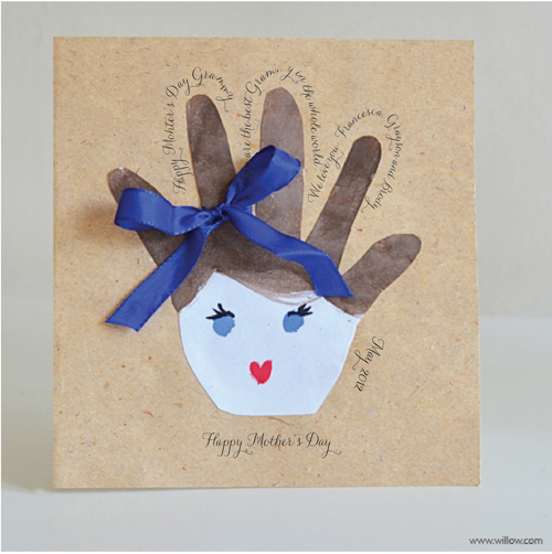 Willowday mother 39 s day handprint cards for Preschool mothers day cards