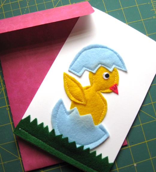 sohl design felt easter card and envelope
