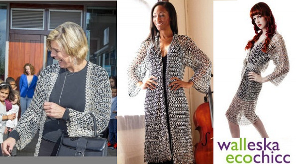 Princess Laurentien's Ecochicc Recycled Pull-Tab Kimono