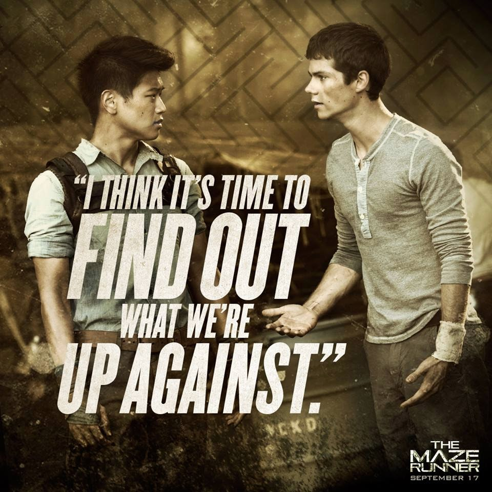 The Maze Runner Still10 Thomas and Gladers2
