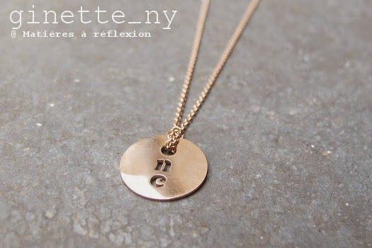 Collier Ginette NY One en or rose