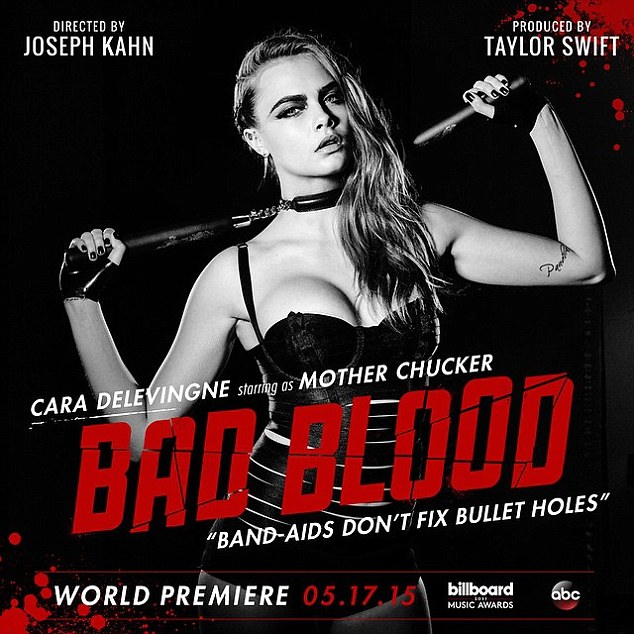 Cara Delevingne as 'Mother Chucker' for Bad Blood