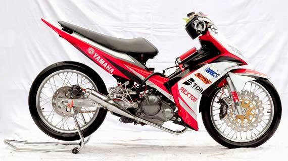 contoh motor modifikasi road race