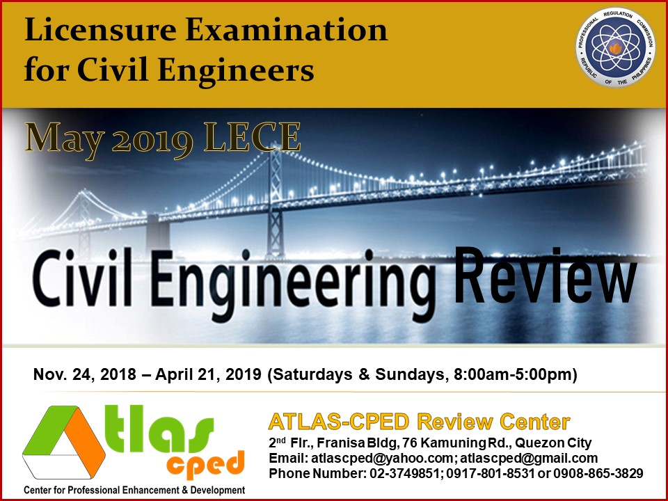 May 2019 CE Board Exam Review