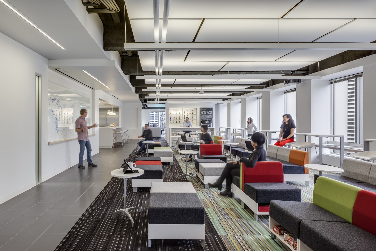 The Great Room Is A Space For Whitepages Employees To Gather Throughout Day