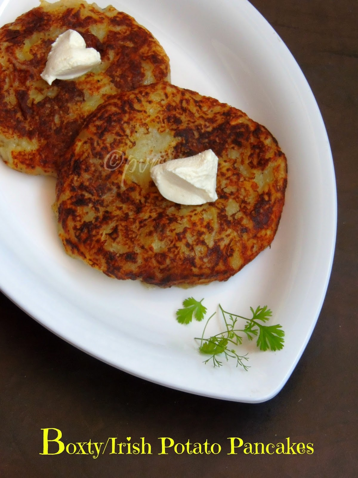 Priya's Versatile Recipes: Boxty - Irish Potato Pancakes