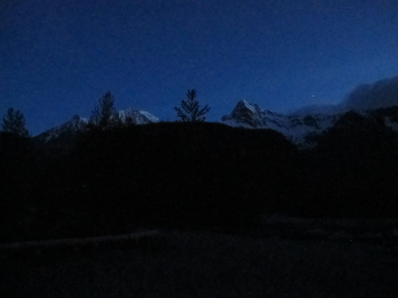 Mountain School at Night