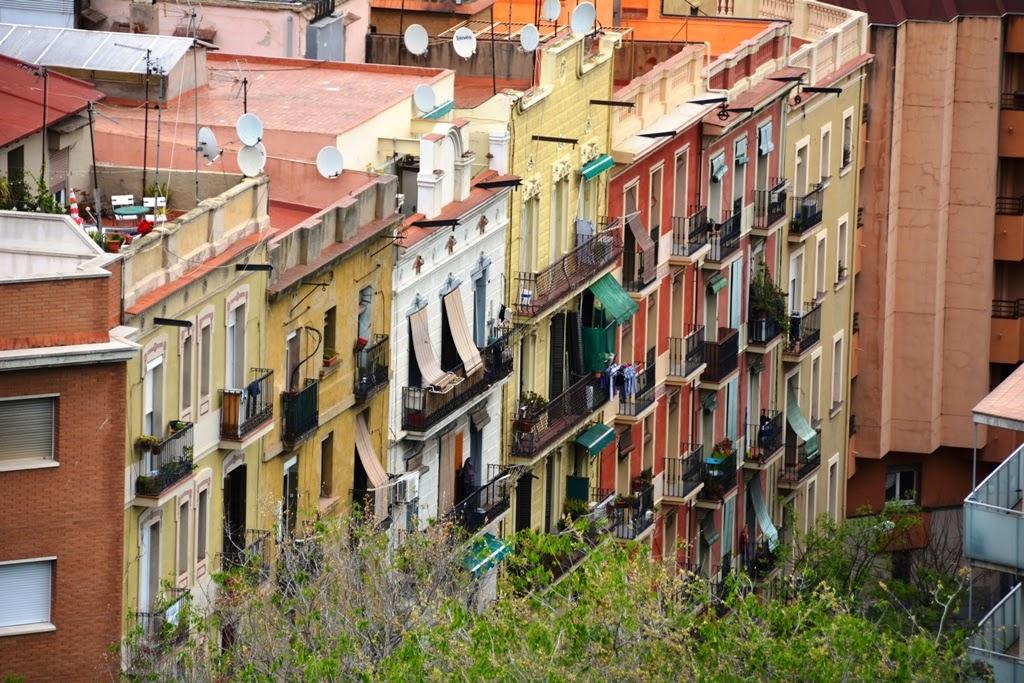Montjuic Barcelona balconies