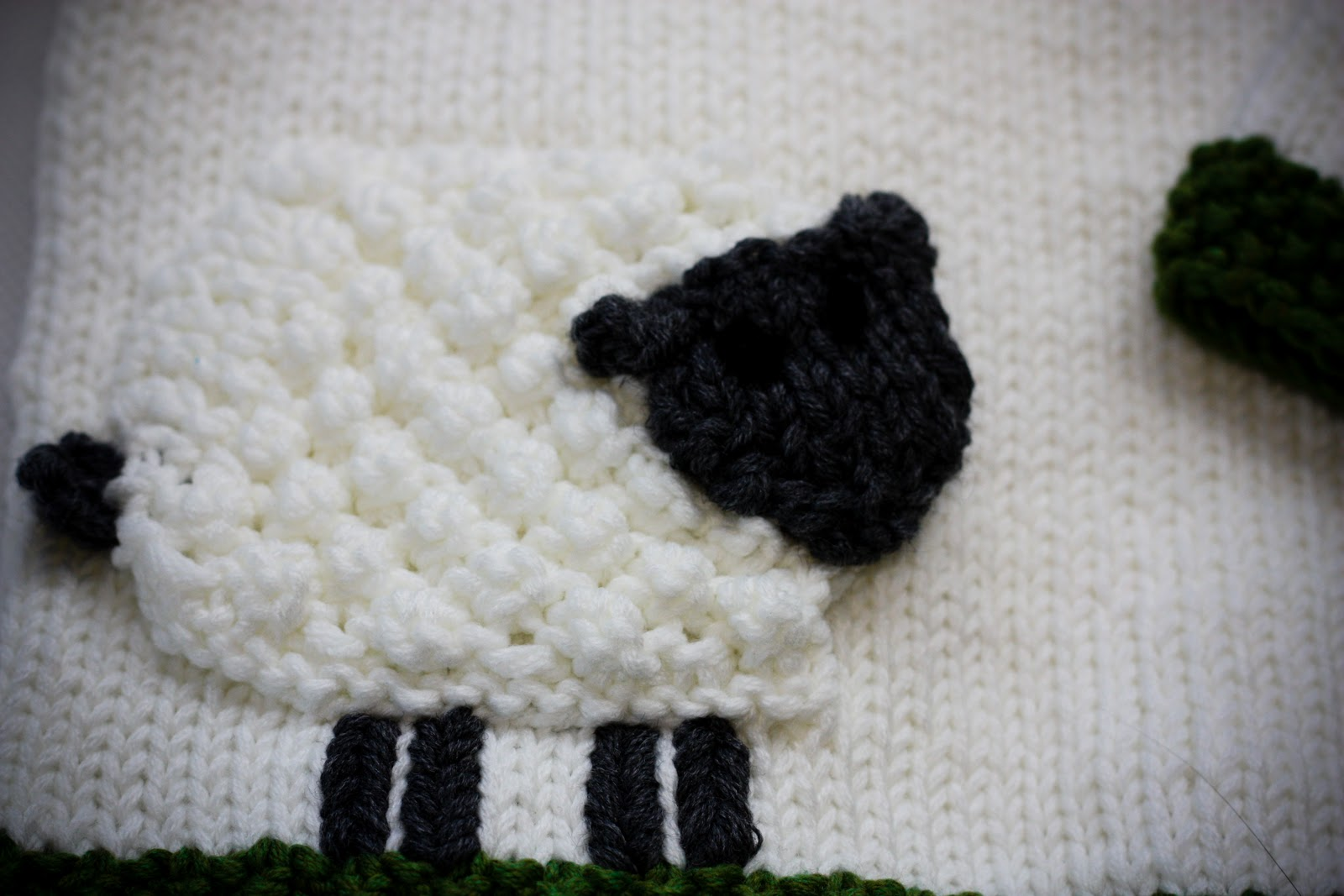 a Scrap of Life: Sheepy Applique: Free Knitting Pattern!