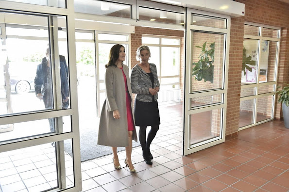 Crown Princess Mary of Denmark attends the opening of the International School of Aarhus Academy for Global Education