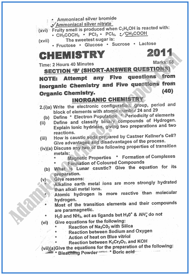 chemistry-2011-past-year-paper-class-XII